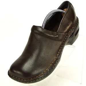 Sonoma Women's 9.5 M Brown Leather Clogs Slip on
